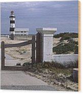 Entrance Of A Lighthouse, Cape Recife Wood Print