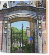 Entrance Of Bornhof Wood Print