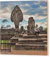 Entrance To Angkor Wat  Wood Print