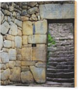 Entrance To Machupicchu Wood Print