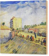 Entrance To Paris With A Horsecar Wood Print