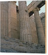 Entrance To Past Life   Acropolis Wood Print