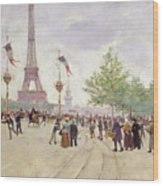Entrance To The Exposition Universelle Wood Print