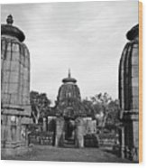 Entrance To The Mukteswar Temple In Bhubaneswar India Wood Print