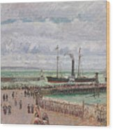 Entrance To The Port Of Le Havre And The West Breakwaters Wood Print