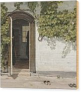 Entrance To The Rectory At Hill Place Wood Print