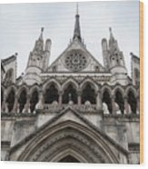 Entrance To The Royal Courts London Wood Print