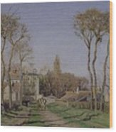 Entrance To The Village Of Voisins Wood Print