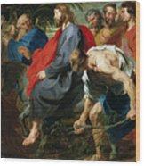 Entry Of Christ Into Jerusalem Wood Print