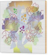 Enviro-web Florescence II Wood Print