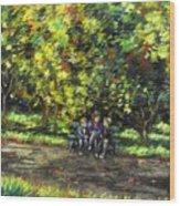 Eoin Miraim And Cian In Botanic Gardens Wood Print