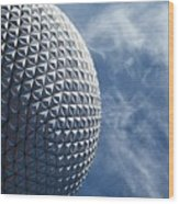 Epcot Architecture Wood Print
