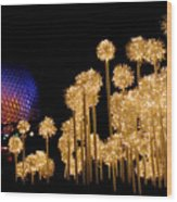 Epcot Christmas Night Wood Print