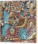 Epcot Mayan Warrior Wood Print