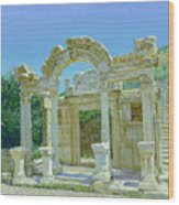 Ephesus.ruins Wood Print