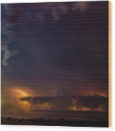Epic Nebraska Lightning 003 Wood Print