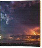 Epic Nebraska Lightning 004 Wood Print