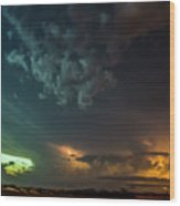 Epic Nebraska Lightning 005 Wood Print
