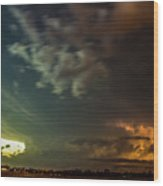 Epic Nebraska Lightning 006 Wood Print