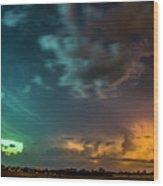 Epic Nebraska Lightning 008 Wood Print