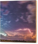 Epic Nebraska Lightning 009 Wood Print