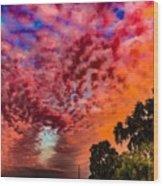 Epic Sunset Wood Print