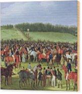 Epsom Races - The Betting Post Wood Print