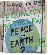 Equality Before The Law Wood Print