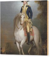 Equestrian Portrait Of George Washington Wood Print by Rembrandt Peale