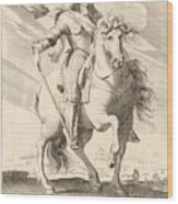 Equestrian Portrait Of Louis Xiii Of France Wood Print