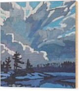 Equinox Cold Front Wood Print by Phil Chadwick