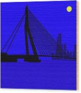 Erasmus Bridge Rotterdam Wood Print