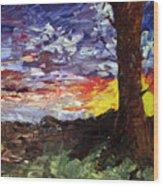 Erda Sunset Wood Print