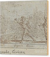 Ergasto And Corisca Wood Print