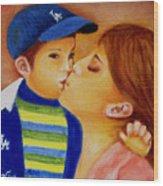 Eric And Mom, 8x10, Oil, '07 Wood Print