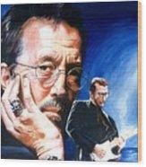 Eric Clapton Blues Lake Wood Print