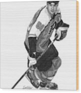 Eric Lindros Wood Print
