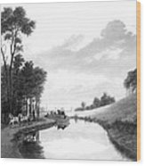 Erie Canal, 1837 Wood Print