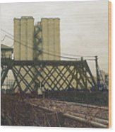Erie Street Swing Bridge Wood Print