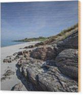 Eriskay Beach Wood Print