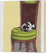Ernie And Green Chair Wood Print