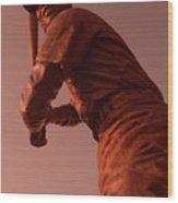 Ernie Banks Sculpture Wood Print