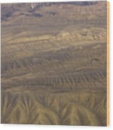 Eroded Hills Wood Print