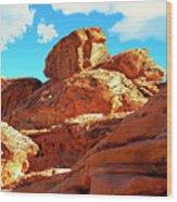 Eroded Red Sandstone Wood Print