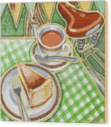 Eroica Britannia Bakewell Pudding And Cup Of Tea On Green Wood Print