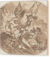 Eros And Psyche Wood Print