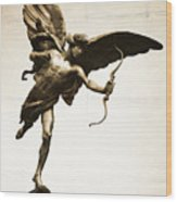 Eros Statue Wood Print