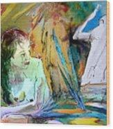 Eroscape 15  1 Wood Print