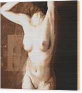 Erotic Art  23 Hours Wood Print