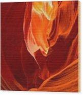 Erupting Flames Wood Print